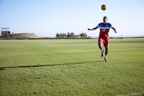 U.S. Army Reserve 2nd Lt. David Garza works on his footwork at the U.S. Olympic Training Center in Chula Vista, Calif. on Aug. 23, 2016 in preparation for the 2016 Summer Paralympic Games. The U.S. Paralympic National Men's Soccer team will square off against Holland during their first match in Rio, Brazil, Sept. 8, 2016. Garza is a member of the 314 Military Intelligence Battalion in San Diego, Calif.