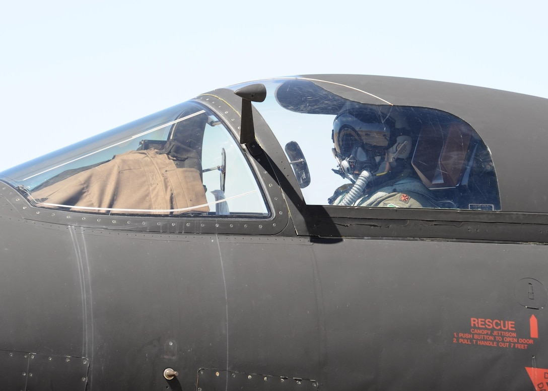 Maj. J.J., 1st Reconnaissance Squadron student pilot, taxis to the runway in a U-2 Dragon Lady Aug. 31, 2016, at Beale Air Force Base, California. J.J.'s flight qualified him as the 1,000 pilot to operate the U-2 in the aircrafts 61 years of service. (U.S. Air Force photo by Senior Airman Ramon A. Adelan)