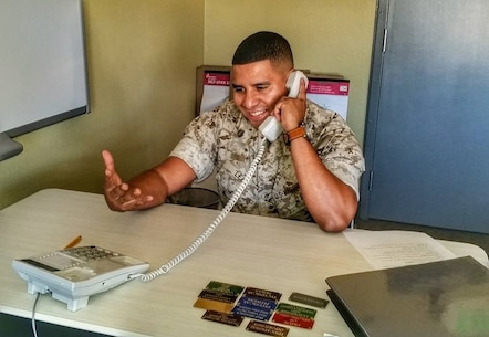 Marines are required to perform the MC3 skills learned at Basic Recruiter Course during the Telephone Call evaluation