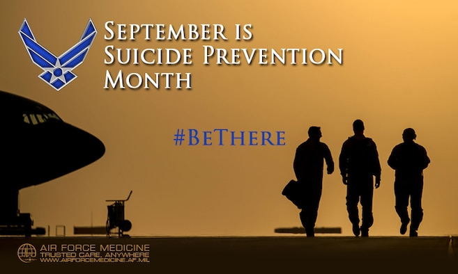 September is Suicide Prevention Month. You don't need to be a specialist or doctor to help prevent suicide. Sometimes all it takes is starting a conversation. Be there for your Wingman.