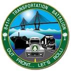 841st Transportation Battalion logo.