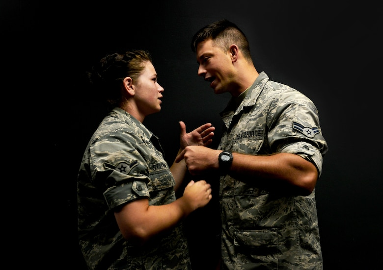 Within the Air Force, first-term Airmen grades E1-E4 are at highest risk for suicide. Common stressors that may lead to suicidal thoughts include relationship, financial or job problems. (U.S. Air Force photo illustration by Airman 1st Class Destinee Sweeney)