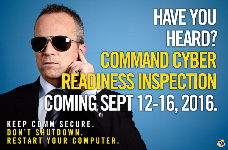 The 45th Space Wing is scheduled to undergo a base-wide inspection, known as a Cyber Command Readiness Inspection, or CCRI, from Sept. 12-16, 2016.