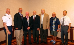 Col. Christopher Barron, Col. (ret)Tom Feir, Bill Scully, Col. (ret) Cliff Richardson, Col. (ret) Philip Harris, Col. Charles Samaris and Col. (ret) Carl Sciple.