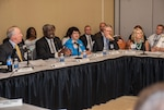 Milton Lewis (2nd from left) discusses topics at the 2016 Captain of Industry meeting, held as part of the 2016 Land and Maritime Supplier Conference and Expo Aug. 30-Sept. 1 at the Columbus Convention Center.
