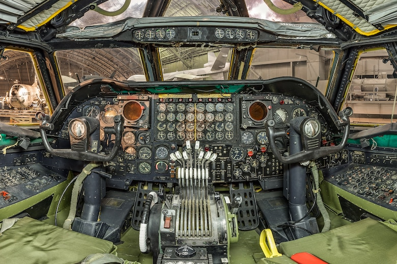 DAYTON, Ohio -- Boeing B-52D Stratofortress cockpit view at the National Museum of the United States Air Force.(Photo courtesy of Lyle Jansma, Aerocapture Images)