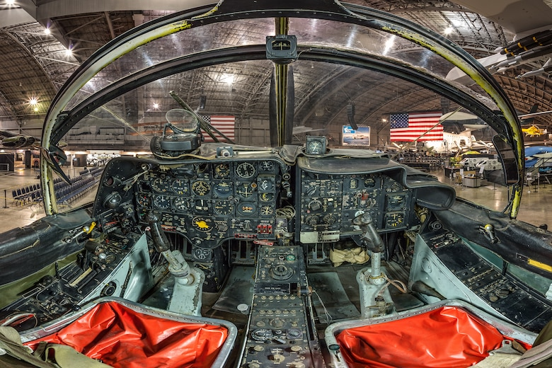 DAYTON, Ohio -- Douglas A-1E Skyraider cockpit view in the Southeast Asia War Gallery at the National Museum of the United States Air Force.(Photo courtesy of Lyle Jansma, Aerocapture Images)
