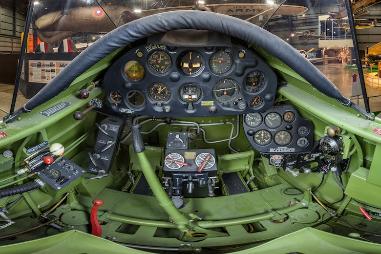 DAYTON, Ohio -- Northrop A-17A cockpit view in the Early Years Gallery at the National Museum of the United States Air Force.(Photo courtesy of Lyle Jansma, Aerocapture Images)