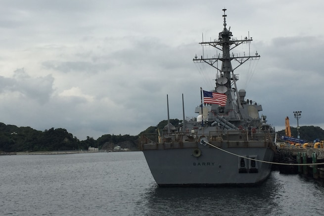 The USS Barry, a guided-missile destroyer