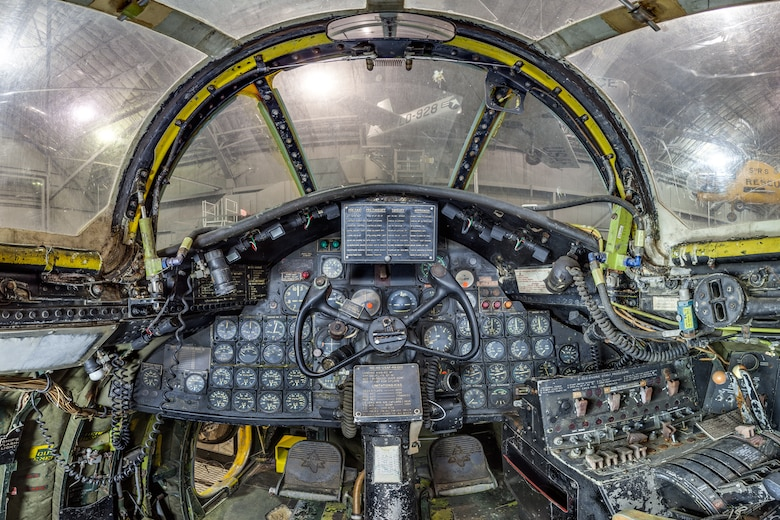 DAYTON, Ohio -- North American B-45C Tornado pilot cockpit view in the Korean War Gallery at the National Museum of the United States Air Force.(Photo courtesy of Lyle Jansma, Aerocapture Images)