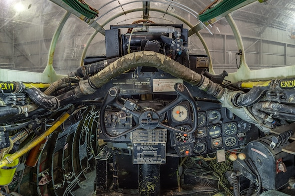 DAYTON, Ohio -- North American B-45C Tornado co-pilot cockpit view in the Korean War Gallery at the National Museum of the United States Air Force.(Photo courtesy of Lyle Jansma, Aerocapture Images)