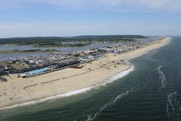 Sand replenishment work taking place on Sea Bright to Manasquan, New Jersey.