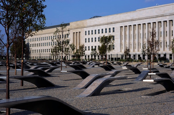 The Pentagon Memorial honors the 184 victims killed at the Pentagon and on American Airlines flight 77, which was flown into the building during the Sept. 11, 2001 terrorist attacks.