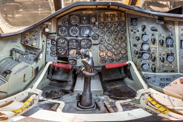 DAYTON, Ohio -- Convair B-58A Hustler pilot cockpit view in the Cold War Gallery at the National Museum of the United States Air Force.(Photo courtesy of Lyle Jansma, Aerocapture Images)