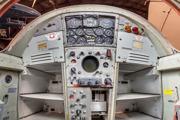 DAYTON, Ohio -- Convair B-58A Hustler defensive system operator station view in the Cold War Gallery at the National Museum of the United States Air Force.(Photo courtesy of Lyle Jansma, Aerocapture Images)
