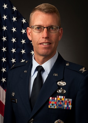 Official photo of Col. Greg Buckner, 90th Maintenance Group Commander