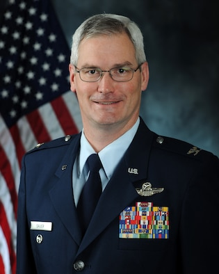 Colonel Randall J. Sauer, 459th Air Refueling Wing vice commander.