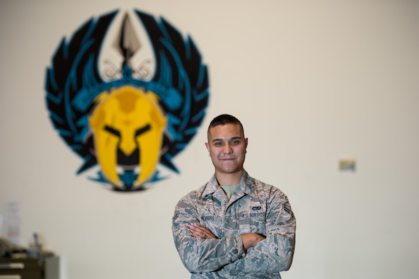 Airman 1st Class Benjamin Morris, 821st Contingency Response Squadron aerial porter, poses for a photograph at Travis Air Force Base, Calif., Spet. 6, 2016. (U.S. Air Force photo by Staff Sgt. Robert Hicks)