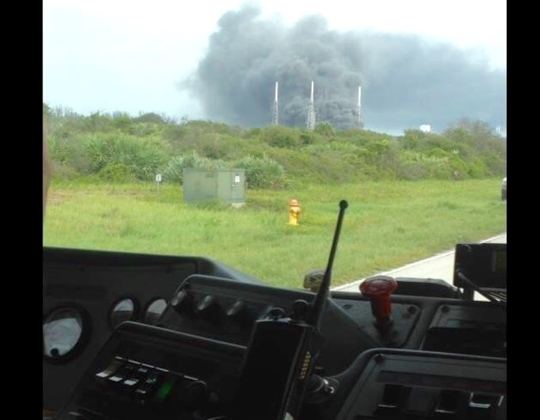 Members of the 45th Space Wing's Incident Management Team responded to an explosion Sept. 1, 2016, on Space Launch Complex 40 at Cape Canaveral Air Force Station, Fla. (Courtesy photo)