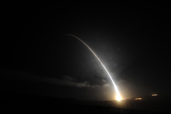An unarmed Minuteman III intercontinental ballistic missile launches during an operational test Sept. 5, 2016, at Vandenberg Air Force Base, Calif. (U.S. Air Force photo/Michael Peterson)