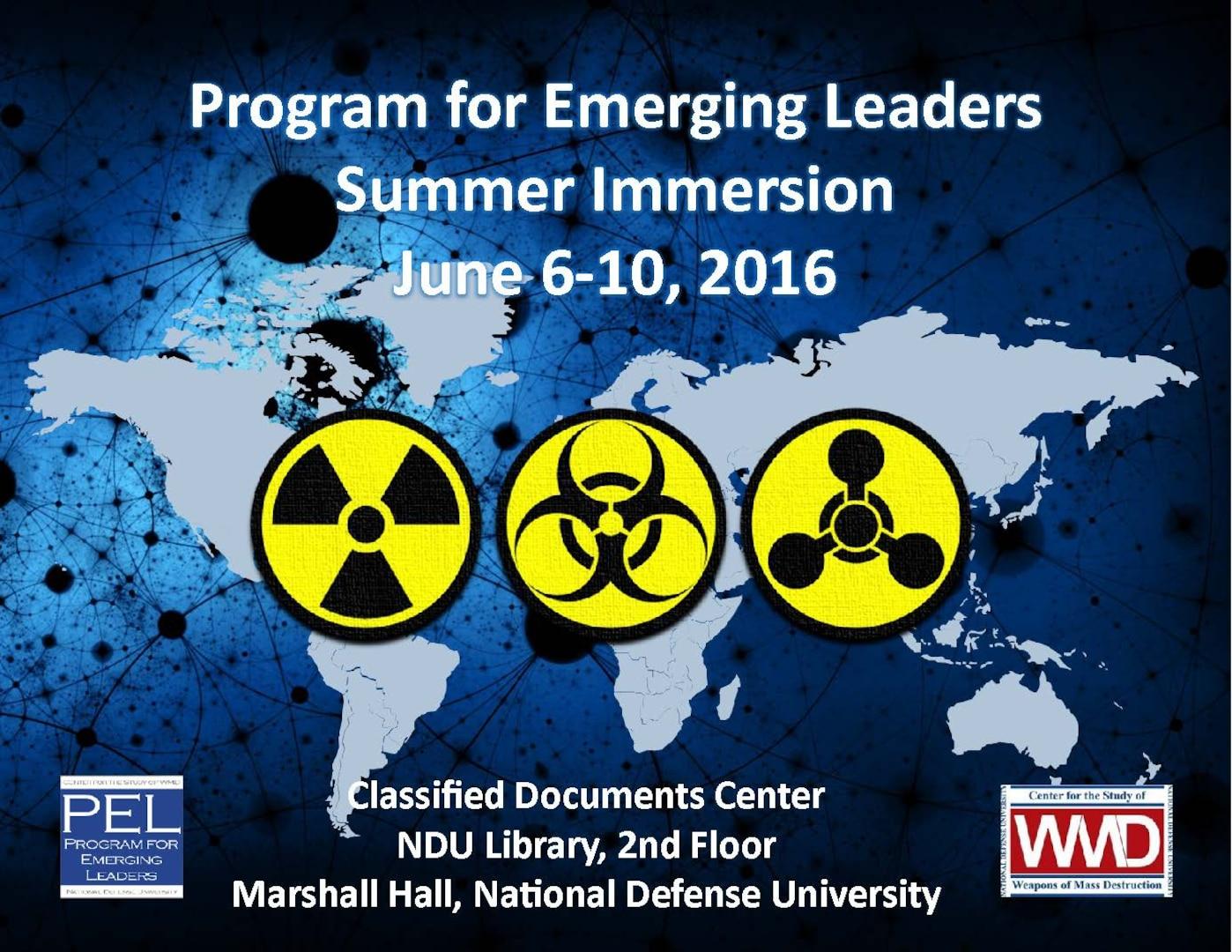 Poster for Program for Emerging Leaders Summer Immersion 2018.