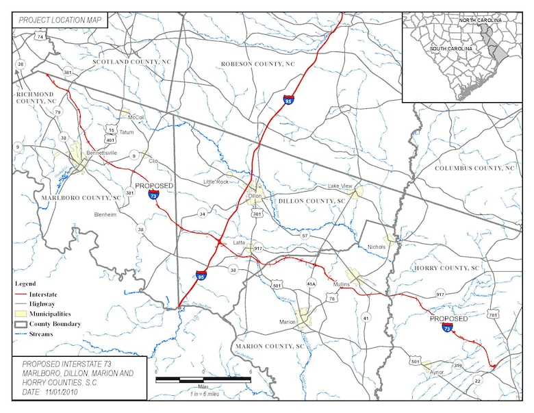 Proposed I 73 Project Under Review Charleston District