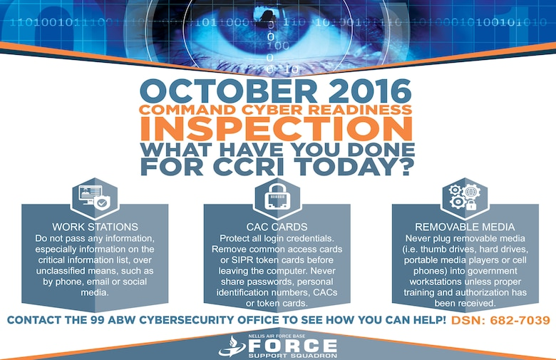 An illustration explaining the upcoming Command Cyber Readiness Inspection.