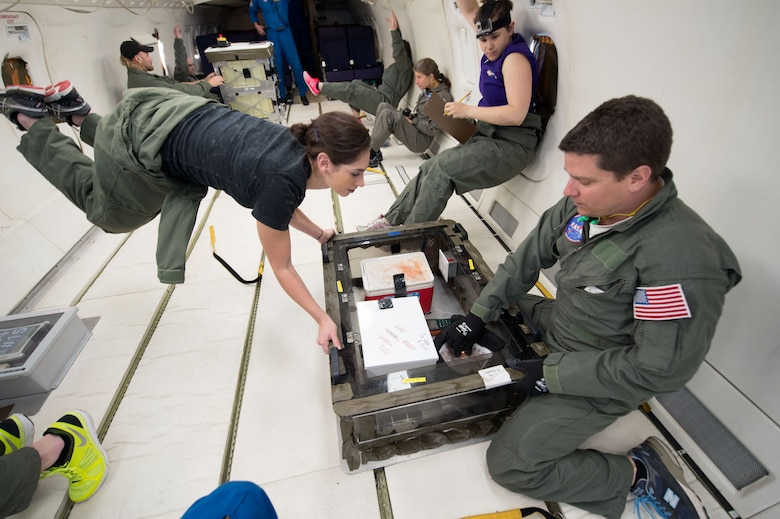 Researchers gathered data for their foam experiment during