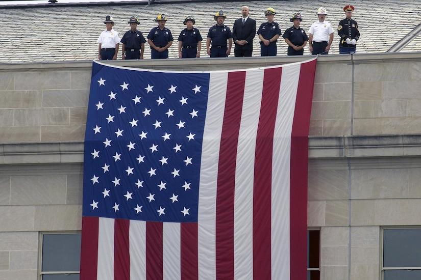 Ceremonies dedicating the Pentagon Memorial, Sept. 11, 2008. DoD photo by R.D. Ward