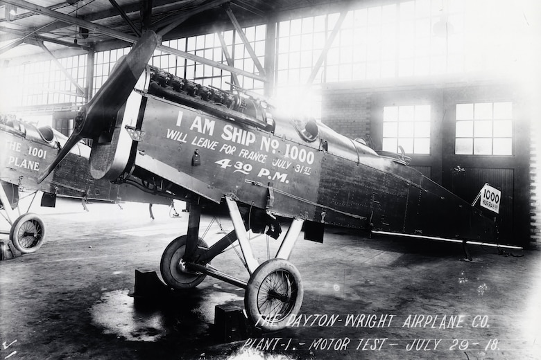 DAYTON, Ohio -- The 1000th DH-4 built at the Dayton-Wright Company plant.