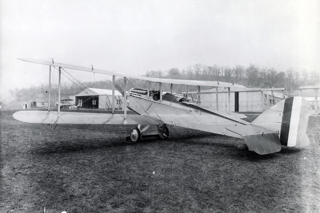 DAYTON, Ohio -- Completed DH-4 at the Dayton-Wright South Airfield.