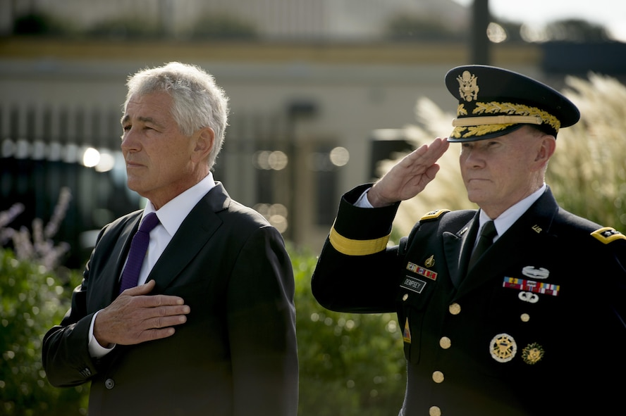 Defense Secretary Chuck Hagel and Army Gen. Martin E. Dempsey