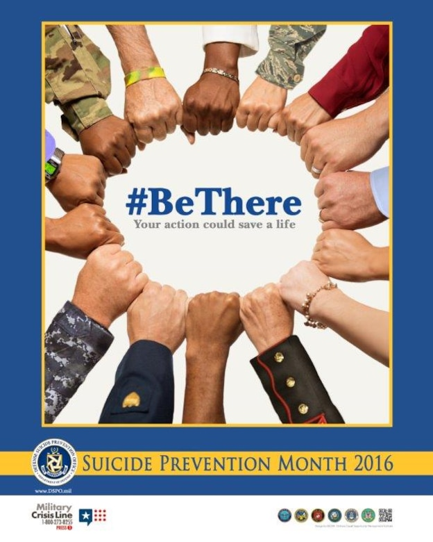 #Be There Your action could save a life. Suicide Prevention Month 2016