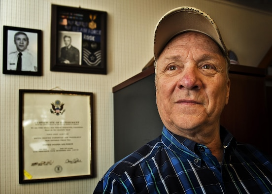 Tech. Sgt. (Sep.) Willie Rose stands for a portrait during an interview in Minot, N.D., May 13, 2016. Rose enlisted in the Air Force in 1963 and served at Minot Air Force Base, N.D., in the 70s. (U.S. Air Force photo/Airman 1st Class J.T. Armstrong)