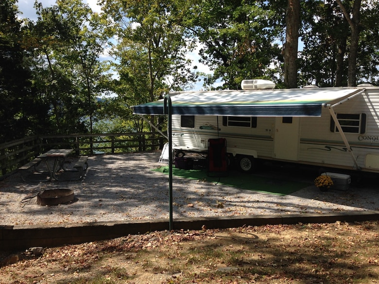 Campers at the Waitsboro campground in Somerset, Ky., unload gear from their camper.  The campground is nestled on the shoreline of beautiful Lake Cumberland, which is operated by the U.S. Army Corps of Engineers Nashville District.