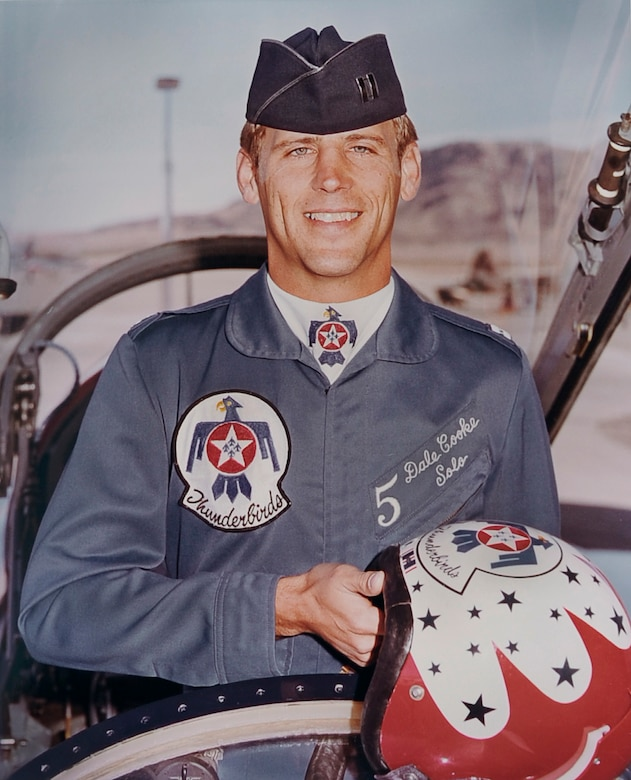 Then-Capt. Dale Cooke, a pilot with the United States Air Force Thunderbirds, poses for an official biography photo in 1982. (Courtesy photo)