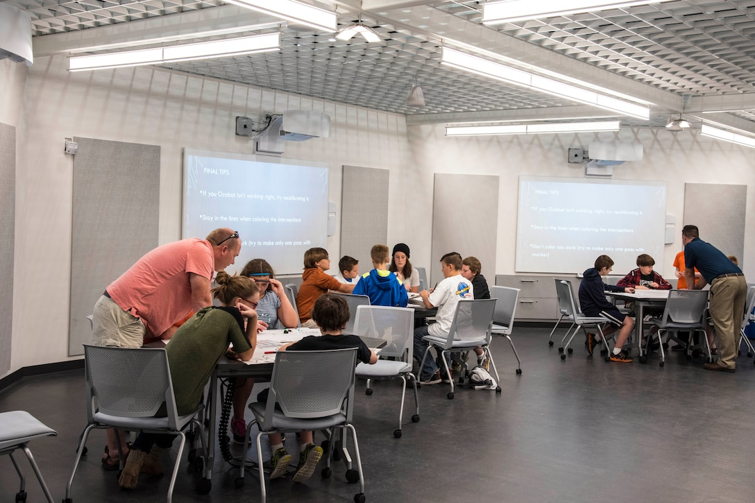 DAYTON, Ohio -- Students participate in Home School STEM Day on Sep. 12, 2016, at the National Museum of the U.S. Air Force. (U.S. Air Force photo)