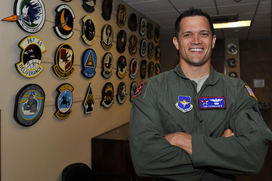 U.S. Air Force Maj. Jonathon Ferricher, 714th Training Squadron officer in charge of the International Military Student Office, supports the needs of international students as they transition from their respective countries to the 314th Airlift Wing for all C-130 training. The IMSO works to establish lasting relationships and immerses students in American culture. (U.S. Air Force photo by Airman Kevin Sommer Giron)