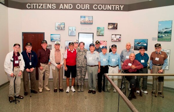 Gen. Lori Robinson, NORAD and USNORTHCOM Commander hosts a visit of the Pilot Classes of WWII reunion to the HQ on September 8, 2016. The Pilot Classes of WWII is an organization for Army Air Corps pilot graduates from 1940-1945, that exists to reunite veterans and foster learning about today's military mission across various organizations.