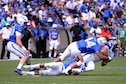 Air Force's strong offensive and defensive game led the team to victory over Abilene Christian University, 37-21, in the first game of the season, Sept. 3 at Falcon Stadium.(U.S. Air Force photo/Darcie Ibidapo)