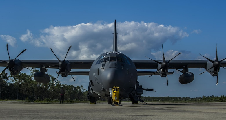 The AC-130J Ghostrider gunship is a highly modified C-130J aircraft, and fourth generation gunship that contains advanced features. The primary missions of the AC-130J are close-air support, air interdiction and armed reconnaissance. The close-air-support missions include troops in contact, convoy escort and point-air defense. (U.S. Air Force photo by Airman 1st Class Isaac O. Guest IV)