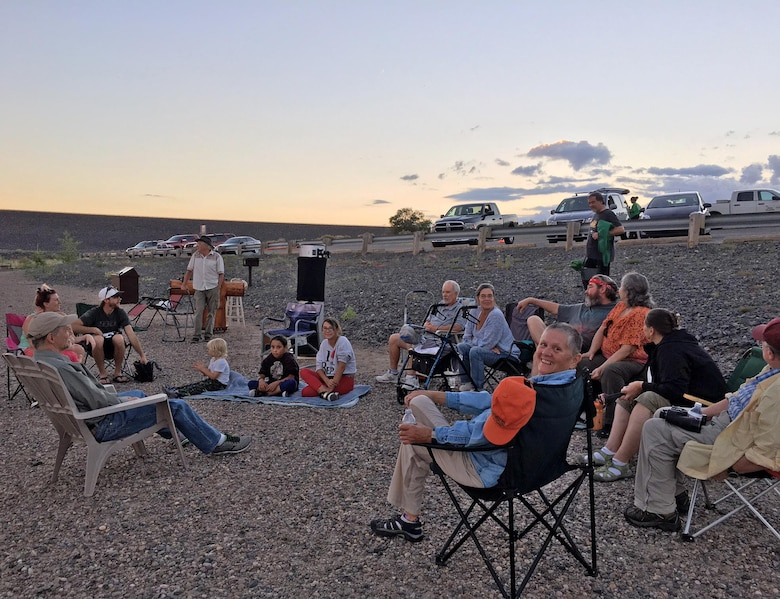 COCHITI LAKE, N.M. -- Participants gather near the lake to look at the heavens during a star party here, Sept. 3, 2016.