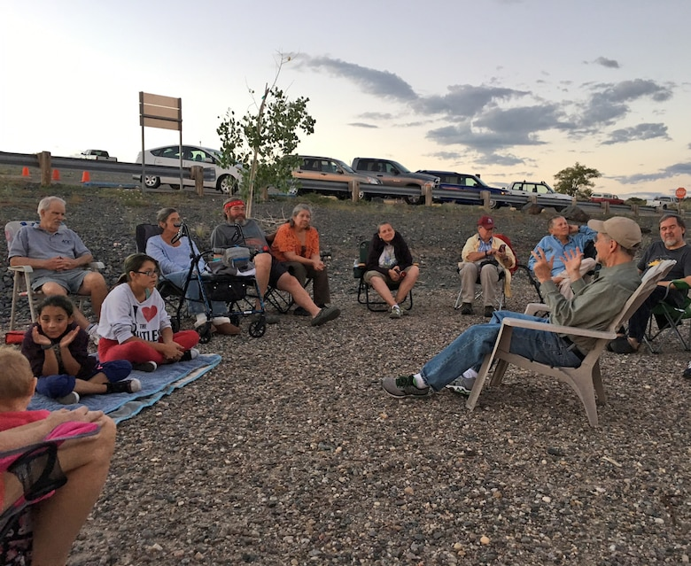 COCHITI LAKE, N.M. -- Participants gather near the lake to look at the heavens during a star party, Sept. 3, 2016.