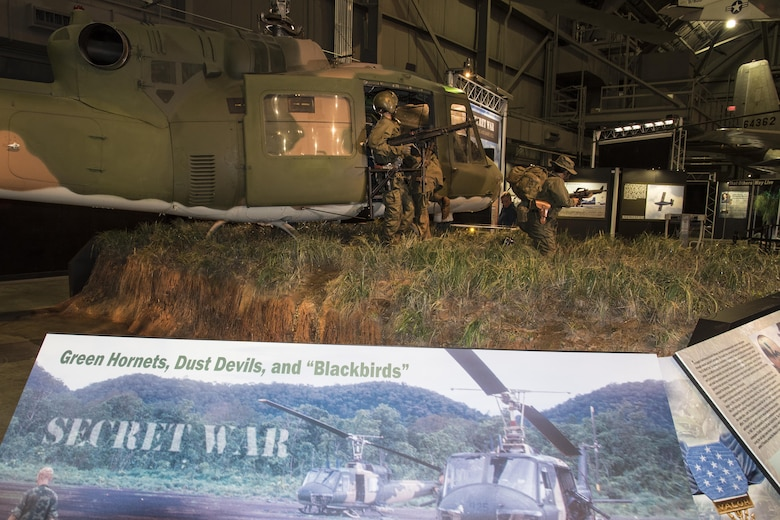 DAYTON, Ohio -- Secret War: Green Hornets, Dust Devils and Blackbirds exhibit on display in the Southeast Asia War Gallery at the National Museum of the United States Air Force. (U.S. Air Force photo by Ken LaRock)