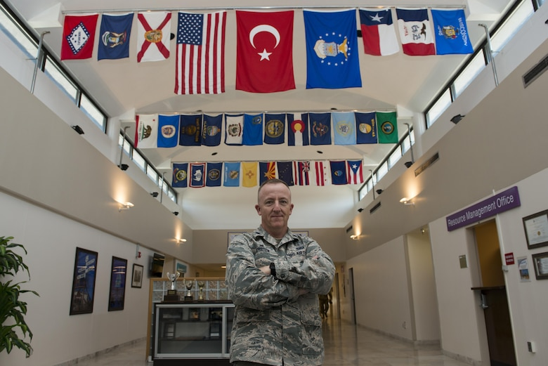 U.S. Air Force Lt. Col. Michael Kersten, 39th Medical Support Squadron (MDSS) commander, poses for a photo inside the medical facility Aug. 23, 2016, at Incirlik Air Base, Turkey. The 39th MDSS provides preventative and clinical health and wellness services for U.S. and coalition forces. (U.S. Air Force photo by Senior Airman John Nieves Camacho)