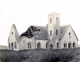 The post chapel at Fort Randall was constructed by volunteers in 1875. The chapel also housed a library and lodge. It was the last building at the fort when it was turned over to the Quartermaster Department in 1892. Over time, the chapel deteriorated and began to collapse.