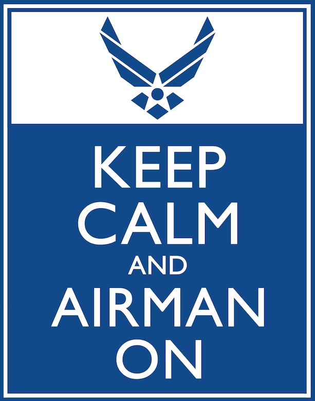 Keep Calm and Airman On poster