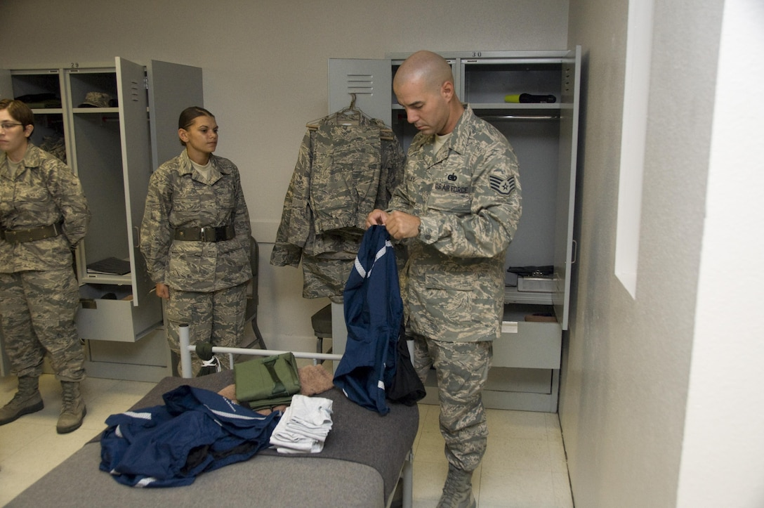 "1st WOT After all of the personal items have been properly marked, folded and placed, MTIs conduct ""stand-by"" inspections of the personal areas and document any discrepancies found."