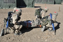 6th WOT A simulated casualty receives first aid and is transported to a medical facility during a BEAST exercise.