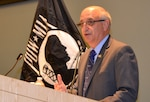 Ralph Galati, a retired Air Force officer and former POW, talks about being held captive for 14 months after his aircraft was shot down over North Vietnam in 1972. Galtai was the guest speaker at this year's POW/MIA Remembrance Ceremony, hosted by the NSA Philadelphia Compound Veterans Committee Sept. 15